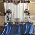 Mavi Masa Gümüş Simli