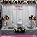 Silver ışıklı nişan masası - 51311