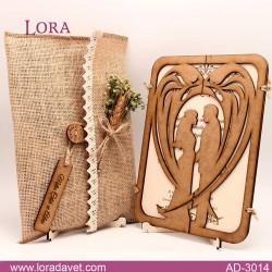 Lora Ahşap Davetiyeler - 3014