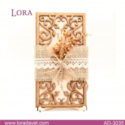 Lora Ahşap Davetiyeler - 30351
