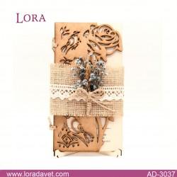 Lora Ahşap Davetiyeler - 30371