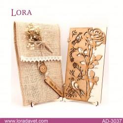 Lora Ahşap Davetiyeler - 3037