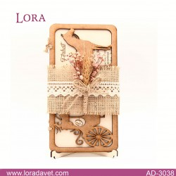 Lora Ahşap Davetiyeler - 30381