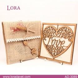 Lora Ahşap Davetiyeler - 3069