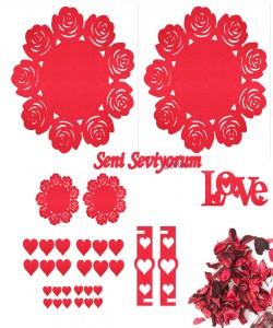 Sevgililer Günü Süsleri - 16519