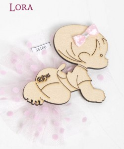 Ahşap Biblolu Kız Bebek - 33160
