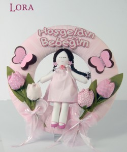 Kız Bebek Kapı Süsü - 75788